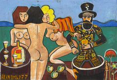 Josef Hlinomaz Naive Art, Primitive, Folk, Painting, Painting Art, Forks, Paintings, Folk Music, Painted Canvas