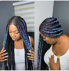 Best 2019 Braided Hairstyles : Braiding, Box Braids, Cornrows and Weaves For You… – dark hair styles Small Box Braids, Short Box Braids, Blonde Box Braids, Jumbo Box Braids, Braids With Weave, Twist Braids, Braids Cornrows, Twists, Short Hair