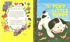 The Poky Little Puppy Birthday Invitation - outside