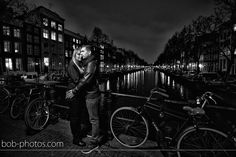 Loveshoot Amsterdam avond foto Keizersgracht Bob-photos.com