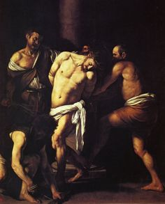 The Flagellation of Christ - Caravaggio, Michelangelo (Italian, 1571 - Fine Art Reproductions, Oil Painting Reproductions - Art for Sale at Bohemain Fine Art Rembrandt, Italian Painters, Italian Artist, Michelangelo Caravaggio, Works Of Mercy, Flagellation, Baroque Painting, Italian Baroque, Modern Baroque