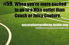 Soccer player problems from soccer players for soccer players. Credibility: Soccer for eleven years And if you have a soccer player problem that you think is so damn funny and just HAVE to share it. Soccer Girl Probs, Girls Soccer, Play Soccer, Soccer Stuff, Basketball Games, Soccer Baby, Soccer Usa, Basketball Socks, Nike Soccer