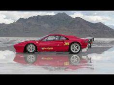 A Ferrari mais veloz do mundo é o que o americano Steve Trafton dirigindo  uma 288 GTO ano 1985. Ele conseguiu bater o record em Bonneville este ano. Ele atingiu a velocidade de 275.4 milhas por hora, o que convertido da mais que 443 km/h!!! Só que o motor utilizado não é um Ferrari, mas um Chevrolet Big Block V8 de 540 polegadas cúbicas sobrealimentado com dois turbos. Vejam...