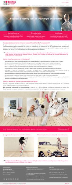 www.boostingyourbrand.nl | Business Boosting programma's, online marketing en web design voor de vrouwelijke ondernemer
