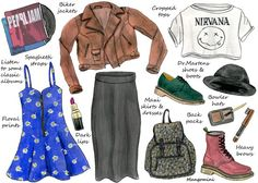 "Naturally, I love the dress & the jacket :-) ""How to Master the '90s Grunge Trend"""