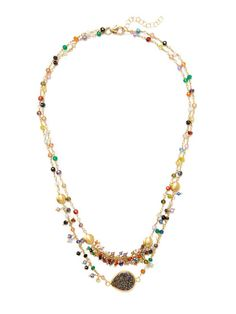 Mary Louise Designs Multi-Bead Double Strand Bib Necklace