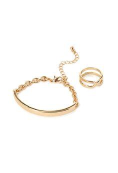 Bar & Chain Bracelet Set | FOREVER21 - 1000117470