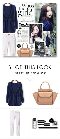 """""""Soo Jung"""" by warna ❤ liked on Polyvore featuring Krystal, Rebecca Minkoff, Bobbi Brown Cosmetics, Essie, Hudson Jeans and SHAN"""