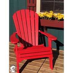 Buyers Choice Phat Tommy Folding Recycled Poly Adirondack Chair & Reviews | Wayfair