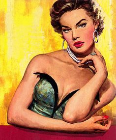 "This painting was on the cover of the paperback ""Gina"" by George A Glay in 1953."