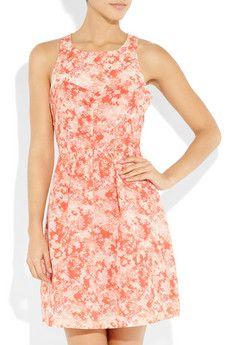 VANESSA BRUNO ATHÉ  Printed cotton and silk-blend dress