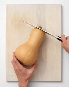 How to cut a butternut squash.