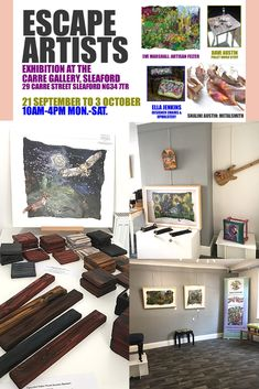 Escape Artists Art Exhibition at Carre Gallery featuring 4 Artists. Dates: 21 SEP – 3 OCT – 10 AM to 4 PM, Monday to Saturday.