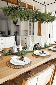 HOLIDAY HOME TOUR 2020 | Red White & Denim Christmas Decorations, Table Decorations, Holiday Decor, All Holidays, Neutral Colour Palette, Winter Theme, White Denim, Decorating Tips, House Tours