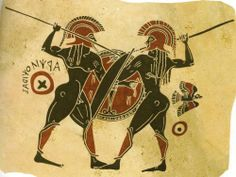 Conflict  of  Greek  hoplites ( Archaic  period,  vase-painting).