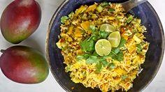 Indischer Reissalat mit Mango und Limettendressing