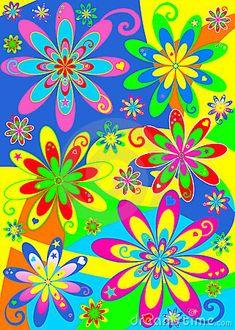 Hippie Flowers | Groovy Hippie Flower Power Stock Photos - Image: 13668663