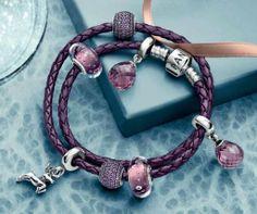 >>>Pandora Jewelry OFF! >>>Visit>> Bracelet Pandora violet www.bijoux-et-cha. Pandora Beads, Pandora Rings, Pandora Jewelry, Pandora Pandora, Cheap Pandora, Pandora Leather Bracelet, Pandora Bracelet Charms, Pandora Collection, Bracelet Designs