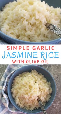 Simple Olive Oil & Garlic Jasmine Rice Simple Olive Oil & Garlic Jasmine Rice – This great side dish recipe is perfect to serve with stews, roasted meats or just veggies. We prepare it weekly in my house! Rice Side Dishes, Dinner Side Dishes, Dinner Sides, Food Dishes, Rice Recipes For Dinner, Side Dish Recipes, Simple Rice Recipes, Simple Meals, Olives