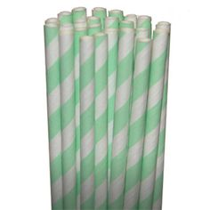 Stripe Mint Party Paper Straws  Cake Pop by SweetsTreatsBoutique, $3.75