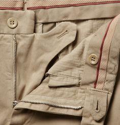 Loro Piana Slim-Fit Brushed-Cotton Trousers