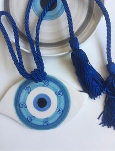 Eye Images, Labrynth, Car Rear View Mirror, Compass Rose, Evil Eye, Washer Necklace, Arts And Crafts, Greece, Handmade