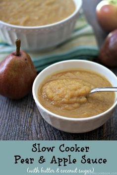 peasy apple sauce made in your slow cooker with a little twist: pears ...