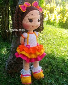 Amigurumi doll crochet doll stuffed doll handmade by tanniascraft salvabrani – ArtofitJules 02 Second doll finished! Crochet Dolls Free Patterns, Crochet Doll Pattern, Doll Patterns, Crochet Crafts, Crochet Toys, Crochet Projects, Crochet Classes, Knit Art, Amigurumi Doll