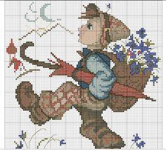 """Globetrotter"" Hummel cross stitch pattern, 2A"