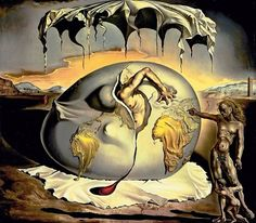 Geopoliticus Child Watching the Birth of the New Man 1943 Salvador Dali