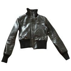 Pre-Owned Anthony Vaccarello Black Leather Leather Jacket
