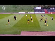 (1) Passing Combination Drill like FC Barcelona - YouTube