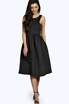 May Scuba Cutaway Neckline Midi Dress alternative image