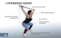 Form check on the overhead squat! Excellent for shoulder strength, stability and core strength. #fitness
