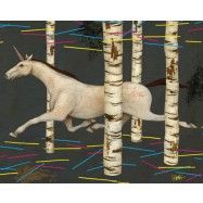 Through The Woods with unicorns! Poster art & Canvas prints by Daniel Chang start at $20