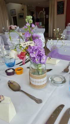 Love these little flower jars - so simple yet so effective