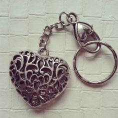 Antique Silver Heart Keychain via choc.hotlate. Click on the image to see more!