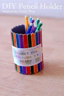 DIY Pencil Holder makes a great teacher gift!
