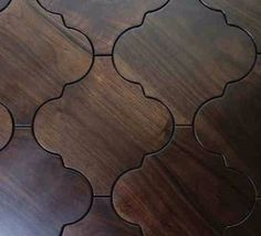 Moroccan wood floor tiles. How cool are these?