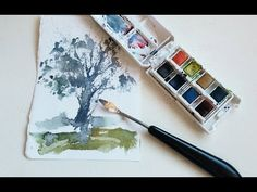La espátula para pintar acuarelas/ watercolor painting knife - YouTube