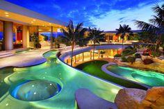 Beach home backyard?