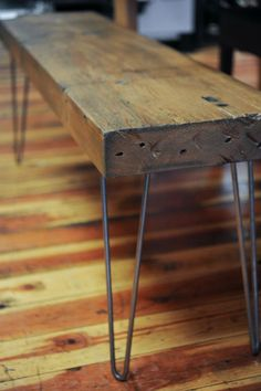 Distressed wood bench. next project but in a desk!