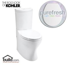 View the Kohler PureFresh K-3723 Persuade Curv 1.6 GPF Elongated Two Piece Comfort Height Toilet with Purefresh Technology (Seat and Tank Included) at Build.com.
