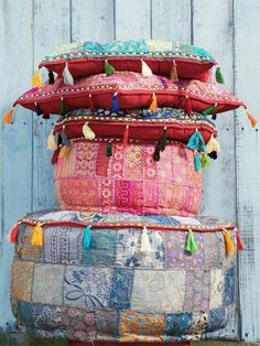 Colorful Bohemian Floor Pillows