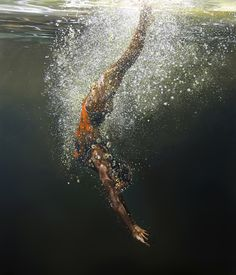 """Breaking Freeby Eric Zener, 2007 #underwater #hyperreal #paint"