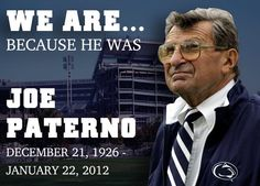 It's been 2 years... We still miss you, Coach. We still love you. We still are...Penn State