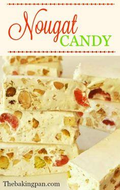 Nougat Candy Recipe     thebakingpan.com    #nougat #candy