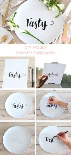#DIY Comment customisez de vieilles assiettes super facilement? J'ai une astuce toute simple!