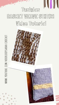 Learn the beautiful Tunisian Basket Weave stitch with my easy video tutorial. #tunisianbasketweavestitch #basketweavecrochet #checkeredtunisiancrochet #besttunisianstitches Sweater Patterns, Knitting Patterns Free, Stitch Patterns, Learn To Crochet, Easy Crochet, Free Crochet, Basket Weave Crochet, Basket Weaving