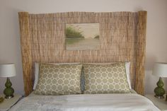 re purposed fence into a head board you don t have to use items for their intended, bedroom ideas, home decor, repurposing upcycling, Beachy headboard Total cost 20 00 and about 30 minutes time